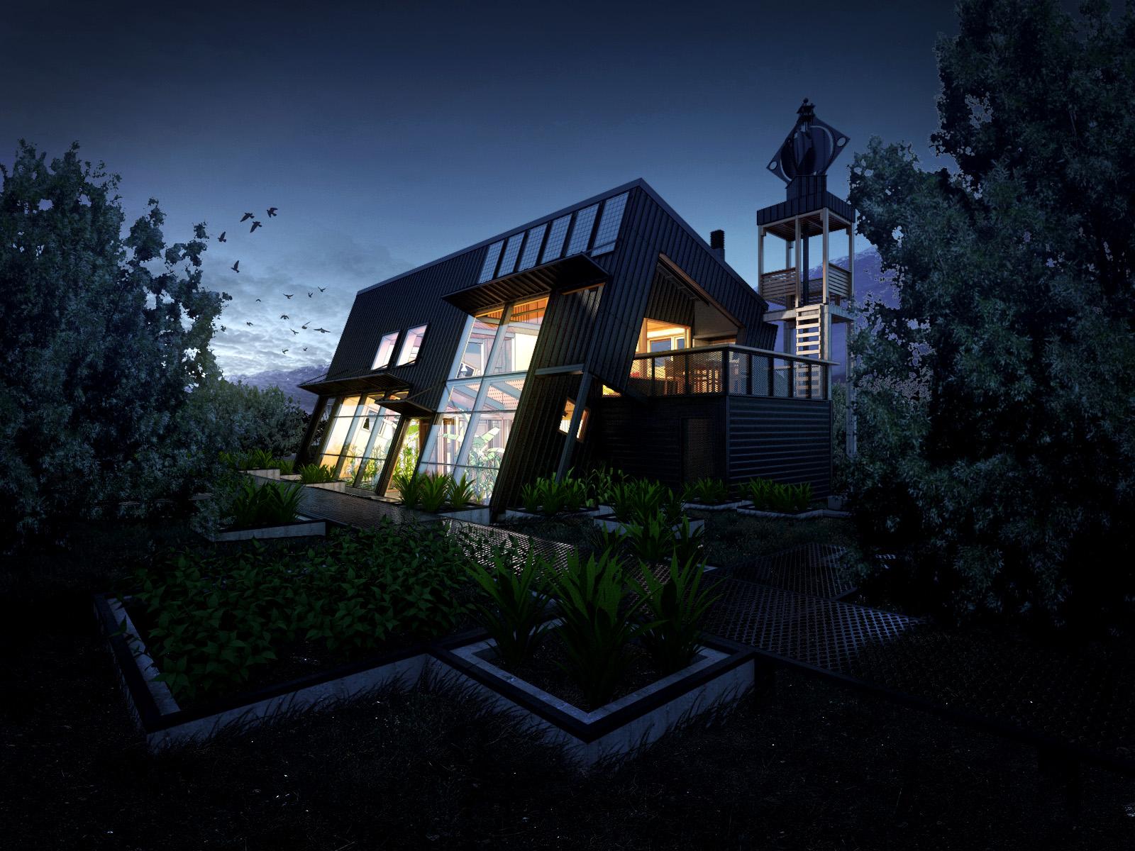 Casa Solar Noche